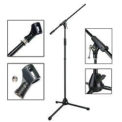 Mikrofonständer mit Galgen inkl. Mikrofonklammer & Reduziergewinde