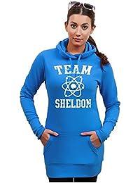 Long à capuche tEAM sHELDON pull à capuche pour femme big bang theory divers coloris xS s m l