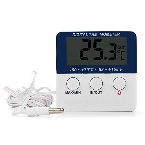 Alarm Thermometer Digital Thermometer In / Out LED Elektronische Hoch- und Niedertemperatur Alarm Haushalt Indoor Outdoor Elektronische Thermometer Hochpräzise High Low Temperatur Alarm Thermometer