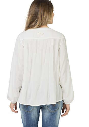 Timezone Smock Tunic, Blouse Femme Weiß (Warm White 1001)