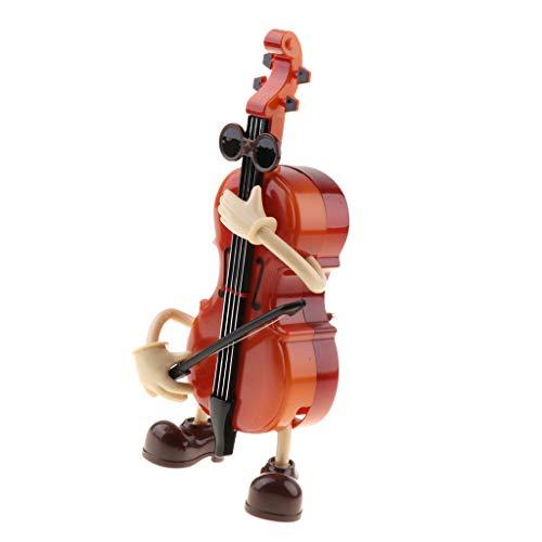 T TOOYFUL Violine Spieluhr Musikbox, Giege Spieldose mit Uhrwerk, Dekoration für Kaffeehaus, Haus, Party, Christbaum usw.