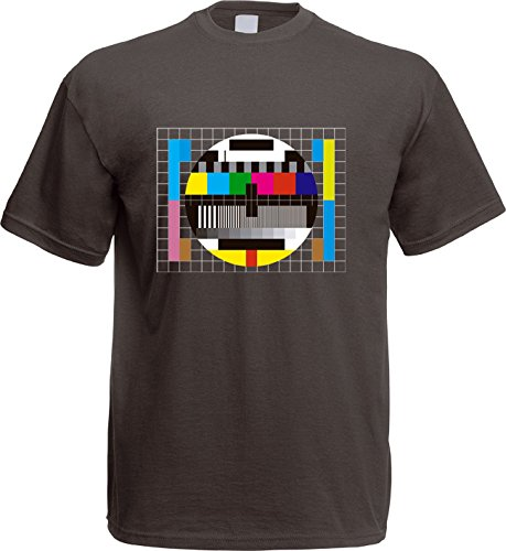 Testbild - Big Bang Theory - Tshirt - S-XXL - Sheldon Computer Monitor Retro Fernseher Cooper (L)