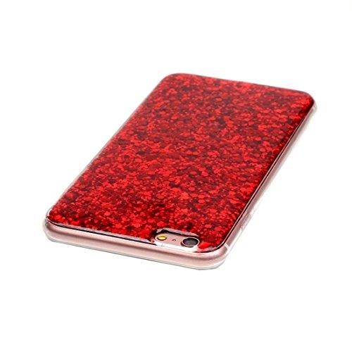 BING Für iPhone 6 / 6s, Glitter Powder Soft TPU Schutzhülle BING ( Color : Red ) Red