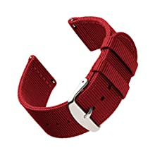 Archer Watch Straps - Premium Nylon Quick Release Replacement Watch Bands for Men and Women, Watches and Smartwatches (Red, 20mm)