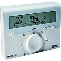 Delta Dore 6050416 Deltia 8.00 Thermostat d'ambiance programmable électronique filaire