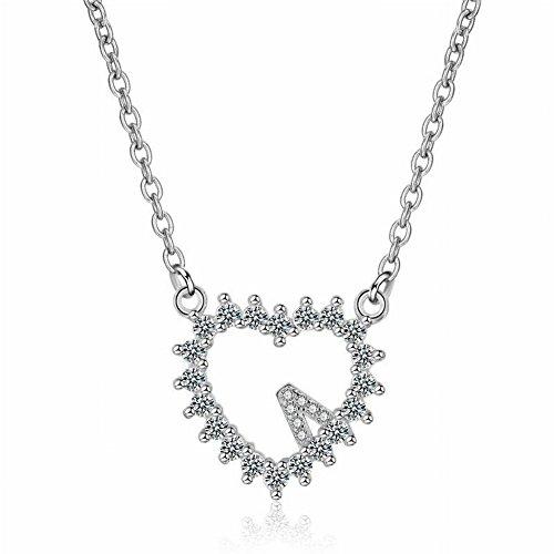 Thumby Mode Einfachen Herzförmigen Liebe Zirkon Silber Halskette Weiblichen Kurzen Schlüsselbein Kette Schmuck, Kettensätze