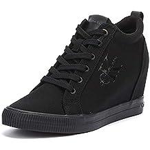 Calvin Klein Jeans - Zapatillas de Lona para Mujer Negro
