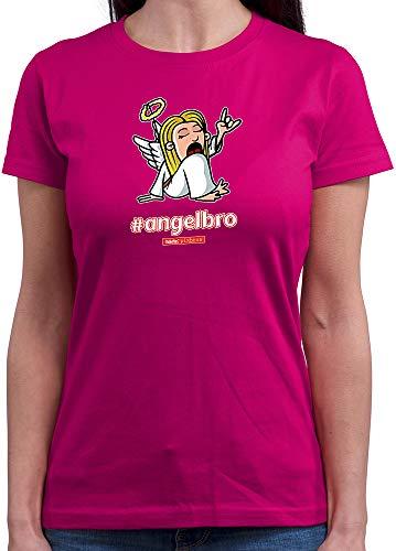 HARIZ  Damen T-Shirt Rundhals Pixbros Angelbro Xmas Weihnachten Cool Familie Liebe Plus Geschenkkarte Pink M