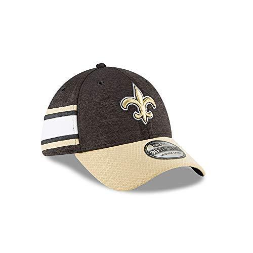 buy online c1d2f 5d4b6 New Era NFL New Orleans Saints Authentic 2018 Sideline 39THIRTY Stretch Fit  Home Cap, Größe