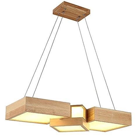 CMYE Modern minimalist rectangular restaurant office chandelier Oak material LED chip illumination length 63 cm (multi