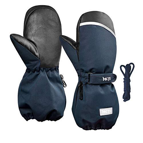 Kineed Fäustlinge Kinderhandschuhe Wasserdicht Handschuhe Kleinkind Snowboard Skihandschuhe 1-15 Jahre Kleinkinder Jungen Mädchen, Blau, XXS (Herstellergröße: 4)