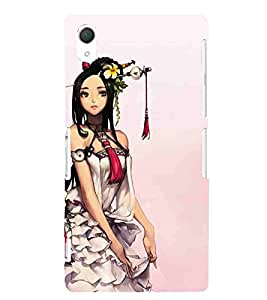 For Sony Xperia Z2 beautiful girl ( ) Printed Designer Back Case Cover By CHAPLOOS
