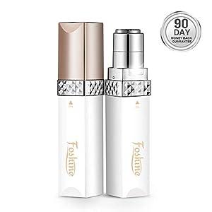 Facial Hair Remover Foshine Skincare Electric Hair Shaver for Women Ladies Facial Hair Trimmer Painless Portable Shaving Effective for Peach Fuzz/Facial Hair/Lip/Chin