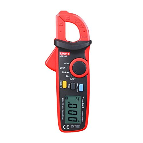 ELENXS Uni-T UT210B NCV-Test Mini Digital Clamp Meter Multimeter Tester Auto Range AC Strom 2A / 20A / 200A Digital Clamp Multimeter Tester