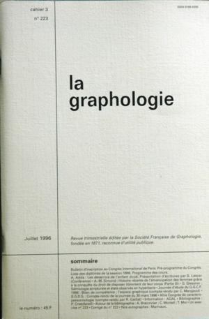 graphologie (la) [No 223] du 01/07/1996 -