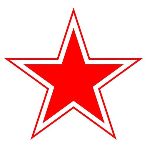 Sticker Aufkleber Roter Stern Red Star Sowjetunion CCCP UDSSR 10x10cm #A062 -
