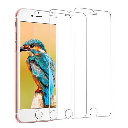 CHKZA [3 Pièces] Verre Trempé pour iPhone 8 / iphone 7 Protection Écran Film Protection en Verre trempé écran Protecteur pour iPhone 8 / iphone 7 Incassable, Sans Bulles, 3D-Touch [Transparent]