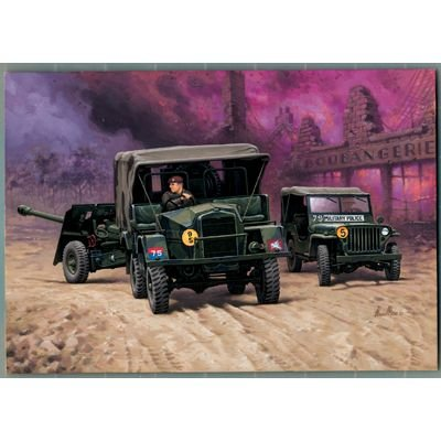 Revell Modellbausatz 03219 - Morris Truck with 17pdr. Gun & Jeep im Maßstab 1:76 -