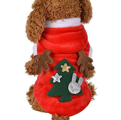 Weihnachten Hund Kleidung kleine Hunde Santa Kostüm für Haustier Katze Neujahr Kleidung Jacke Mantel Haustiere Kostüm,XS