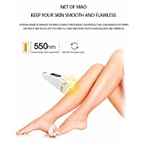 Mainstayae Hair Removal IPL Hair Removal System Painless Facial Whole Body At-Home Hair Remover Device for Women Men(UK Plug)