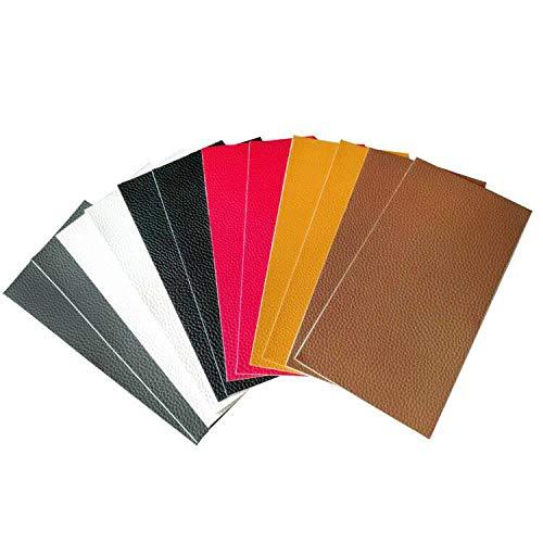 Patch-leder Tasche (E EBETA 12 Stück Lederreparatur Kunstleder Flicken Selbstklebend Patch Reparaturflicken für Leder Sofa Möbel Autositze und Taschen, 10 * 20cm, 6 Farben)