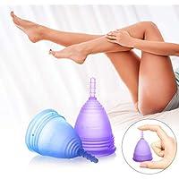 Luvkis copa menstrual reutilizable para mujeres y niñas 2pcs conjunto alternativa de silicona lavable para protección femenina higiénica toallas y tampones para un período cómodo (4.0 cm)