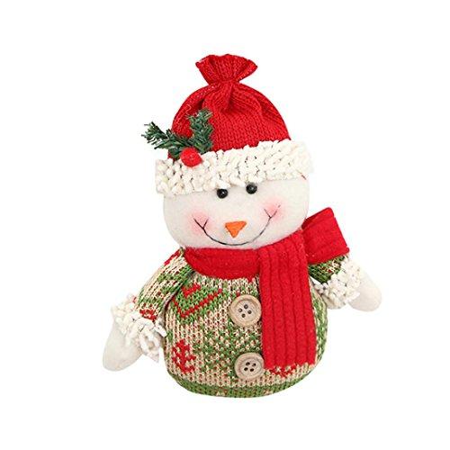Deko Weihnachtsbaum Fenster Dekor Weihnachtsschmuck Geschenk Weihnachtsmann Schneemann Spielzeug Puppe hängen Dekorationen (A) ()