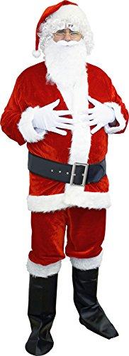 Unbekannt AEC-no2247/XL-Kostüm Santa Effekt Velours 5Pieces XL-100% Polyester
