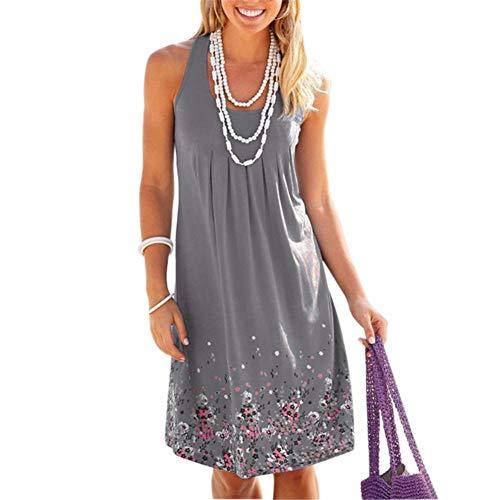 Basisago Sommerkleid, Langärmliges Damenkleid, Mantelkleid, Sommerkleid Ohne Ärmel (Größe Und Farbe Optional)