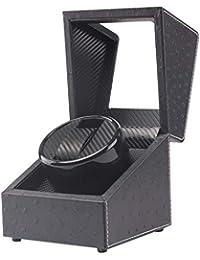 Automatic Watch Winder Box Single Black Leather Watch Display Case Watch Storage Box