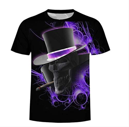 Männer Rauchen Cowboy Schädel T-Shirt Sommer Cool T Casual Kurzarm T-Shirt Original Design Plus Size Fashion Hot Tees Tops -L