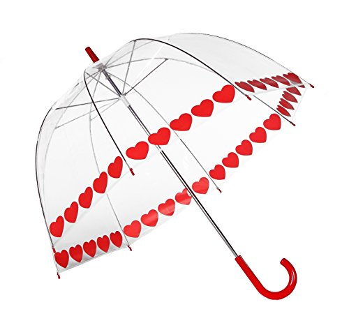 Elite Rain Umbrella Printed Bubble Umbrella - Heart String