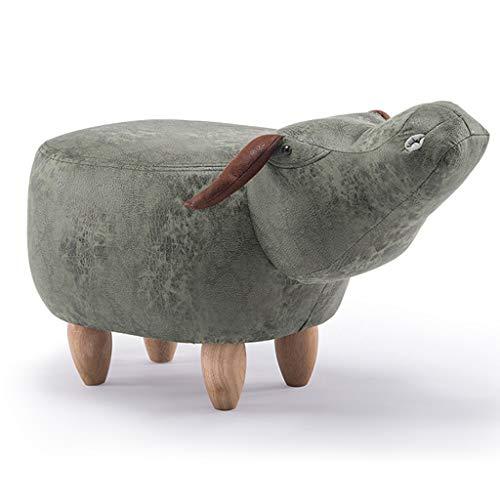 l Lagerung Typ Sofa Bank Schuh ändern Hocker Cartoon Tiere Fußbank (Size : Cow Non Storage Box) ()