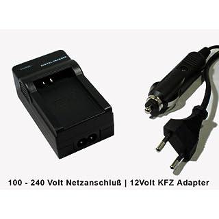 accu-batt Ladegerät   Canon LP-E12   für Canon EOS-M   Netzanschluß + KFZ Adapter