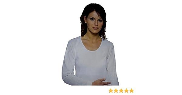 Leable Set 3 Pezzi Maglia Manica Lunga Cotone Felpato Donna Art 260 Bianco   Amazon.it  Sport e tempo libero 46b26199594