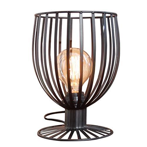 TMC Luz de Pared Lámpara Creativa de Estilo nórdico Lámpara de Hierro de Estilo nórdico Café de la Oficina Estudio de Estudio Lámpara Creativa Lámpara de Mesa (Color : Silver Black)