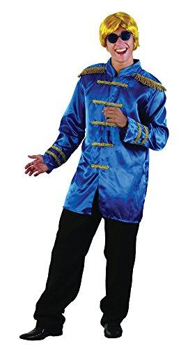 3b SGT PEPPER Budget Jacke, Blau, 42–Blumenkasten (Blaue Perücke Kostüme Ideen)