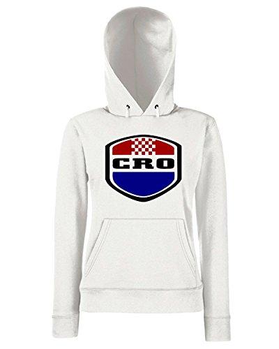 T-Shirtshock - Sweats a capuche Femme WC0161 CROAZIA Blanc
