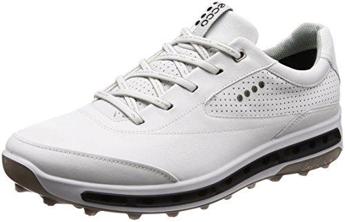 Ecco Cool Pro, Chaussures de Golf Homme, Blanc (White/Black/Transparent 50948), 43 EU