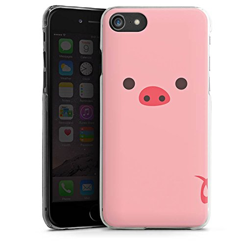 Apple iPhone X Silikon Hülle Case Schutzhülle Schwein Pig Comic Style Hard Case transparent