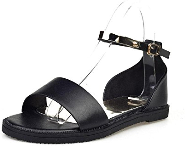 MEILI Sandali Sandali Sandali femmina Word fibbia con open-toed Wild studenti scarpe, Nero, EU36 | Del Nuovo Di Stile  86d3de