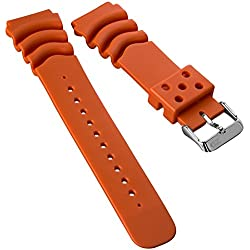 Replacement Divers Watch Strap by ZULUDIVER for Seiko Orange 22mm