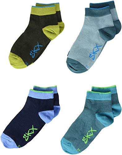 Skechers Socks Jungen SK42002000, Blau (Dragonfly Mix 6811), 27-30, 8er Pack