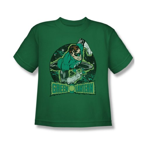 Dc Comics - Im Rampenlicht Jugend T-Shirt in Kelly Green Kelly Green