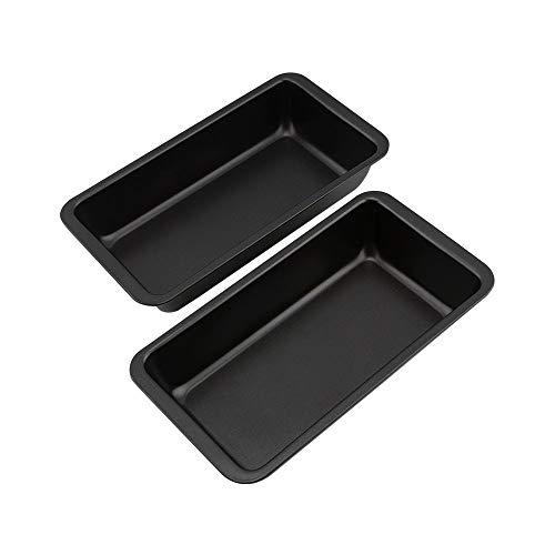 NOBLJX 2Pack Cake Baking Pans Tray Tray Rechteckiger Cake Tin Non-Stick Large Carbon Steel Baking Tray 9 Zoll Bakeware Set für die Küche Pizza Pan Easy Clean - Non-stick Lasagne Pan
