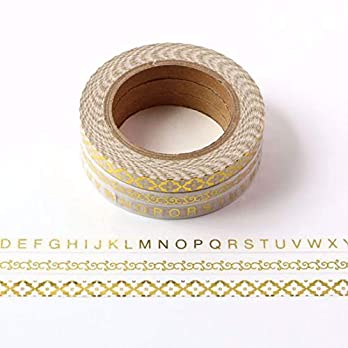 (3er) Skinny Gold Foil Washi Tape Set for Planning • Planer und Organizer • Scrapbooking • Deko • Office • Party Supplies • Gift Wrapping • Colorful Decorative • Masking Tapes • DIY