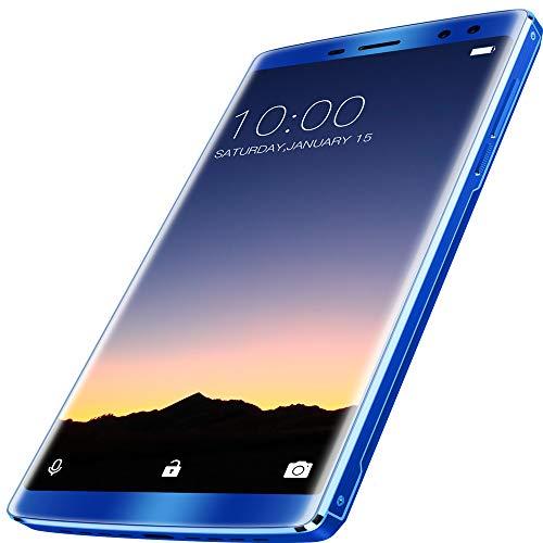 FSM88 Smartphone, entsperrte Handys 12000Ma Vollbild Dual 4 + 32G 1,5 GHz acht Core-Smartphone 6,0 Zoll FHD Android 8.1,Blue (Android 4g Entsperrt Handy)