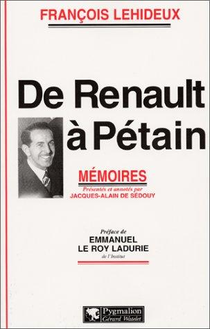 De Renault  Ptain. Mmoires