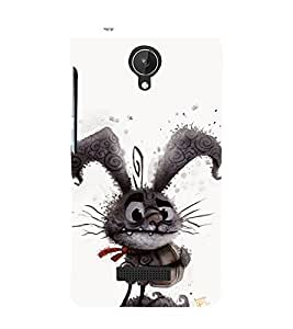 printtech Alice Funny Bunny Back Case Cover for Micromax Canvas Spark Q380