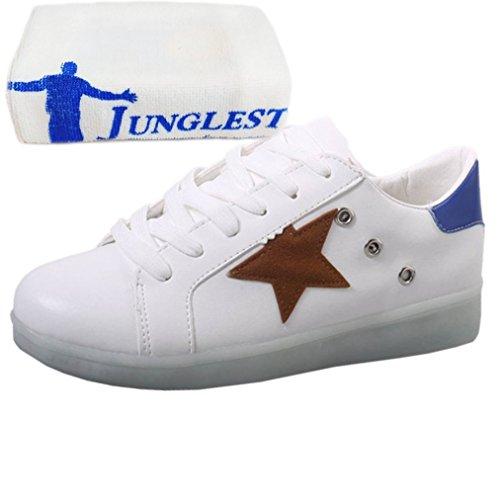 Partyschuhe Aufladen Weiß Handtuch Sportsc Usb junglest kleines present Leuchtend Damen Fasching Hohe Sneaker Led C38 7q8YxRg